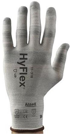 Ansell HyFlex 11-318 Handschoen Grijs 9