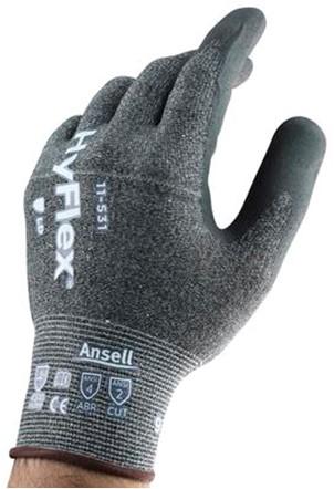 Ansell HyFlex 11-531 Handschoen Grijs 8