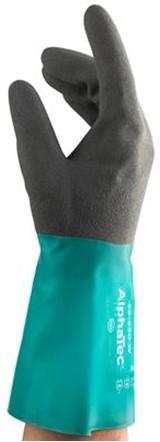 Ansell AlphaTec 58-530W Handschoen Antraciet/groen 10