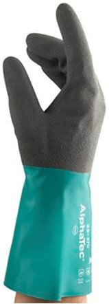 Ansell AlphaTec 58-270 Handschoen Antraciet/groen 7