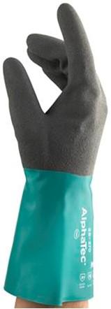 Ansell AlphaTec 58-270 Handschoen Antraciet/groen 9