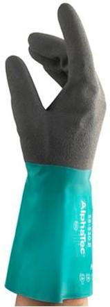 Ansell AlphaTec 58-530B Handschoen Antraciet/groen 10