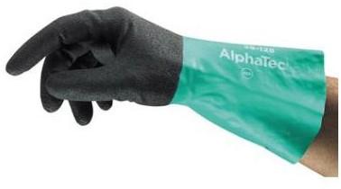 Ansell AlphaTec 58-128 Handschoen Antraciet/groen 7