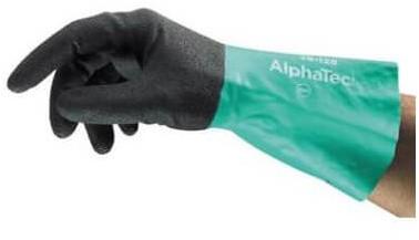 Ansell AlphaTec 58-128 Handschoen Antraciet/groen 10 - 280 mm