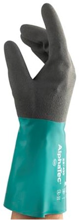 Ansell AlphaTec 58-430 Handschoen Antraciet/groen 8