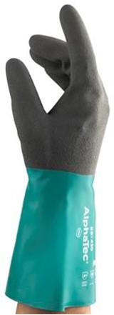 Ansell AlphaTec 58-430 Handschoen Antraciet/groen 9