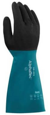 Ansell AlphaTec 58-435 Handschoen Blauw/antraciet 8