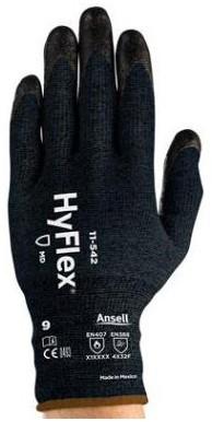 Ansell HyFlex 11-542 Handschoen Zwart 6