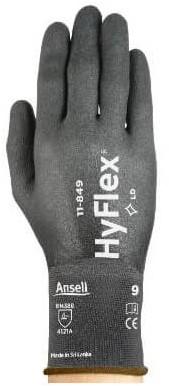 Ansell HyFlex 11-849 Handschoen Zwart 9 - 210-255