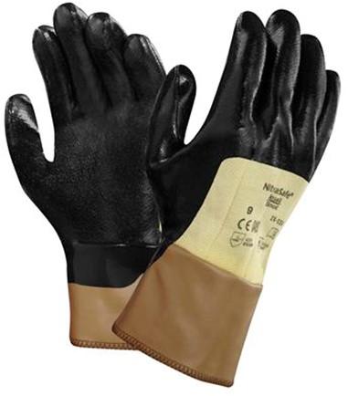 Ansell NitraSafe 28-329 Handschoen Zwart/geel 8