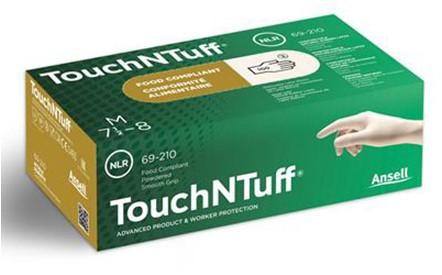 Ansell TouchNTuff 69-210 Handschoen Naturel 6½-7