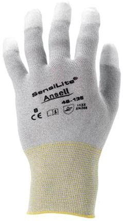 Ansell HyFlex 48-135 Handschoen Wit/grijs 9