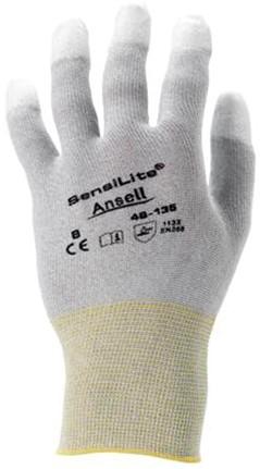 Ansell HyFlex 48-135 Handschoen Wit/grijs 10