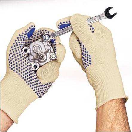 Ansell Tiger Paw 76-301 Handschoen Wit/blauw 8