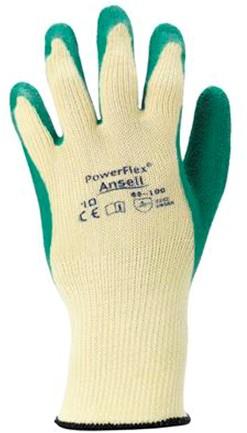 Ansell PowerFlex 80-100 Handschoen Blauw/grijs 8