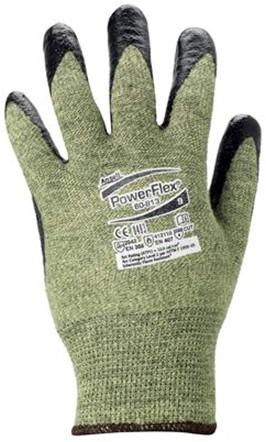 Ansell ActivArmr 80-813 Handschoen Zwart/groen-geel 7