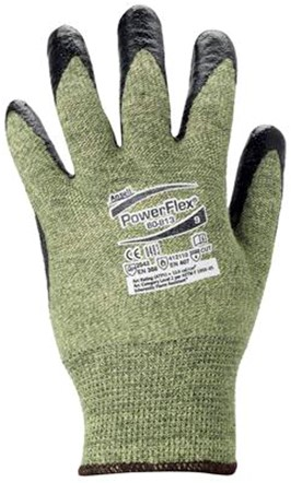 Ansell ActivArmr 80-813 Handschoen Zwart/groen-geel 10