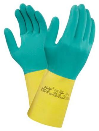 Ansell AlphaTec 87-900 Handschoen Groen/geel 7½