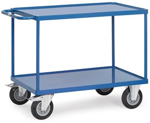 Tafelwagen 2401B met laadvlak van staalplaat en rand Laadvlak 1.000 x 600 mm