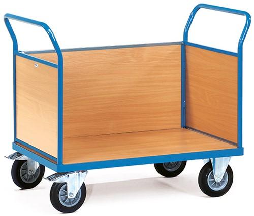 Platformwagen met 3 gesloten wanden 2531 Laadvlak 1.000 x 600 mm