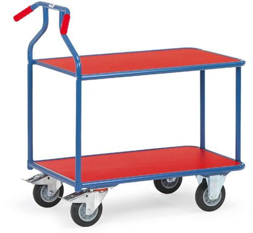 Optiliner tafelwagen 3601 - blauw/rood Laadvlak 900 x 600 mm