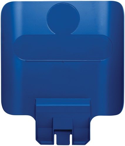 Paneel Slim Jim Recyclestation blauw