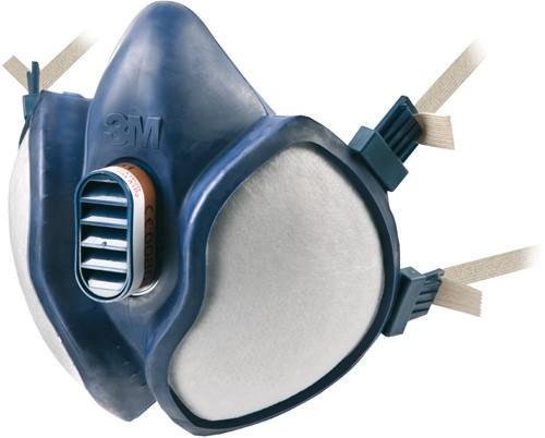 3M 4255 FFA2-P3 R D Halfgelaatsmasker Blauw One Size