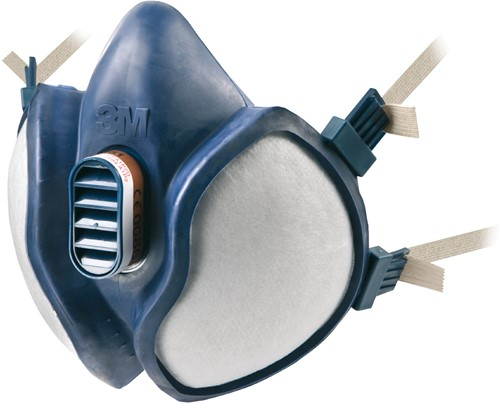 3M 4279 FFA1B1E1K1-P3 R D Halfgelaatsmasker Blauw One Size