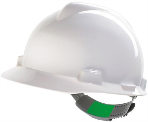 MSA V-Gard Veiligheidshelm Met Push-Key Binnenwerk Wit