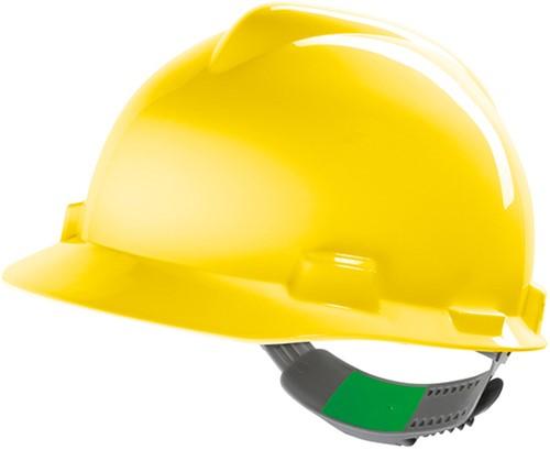 MSA V-Gard Veiligheidshelm Met Push-Key Binnenwerk Geel