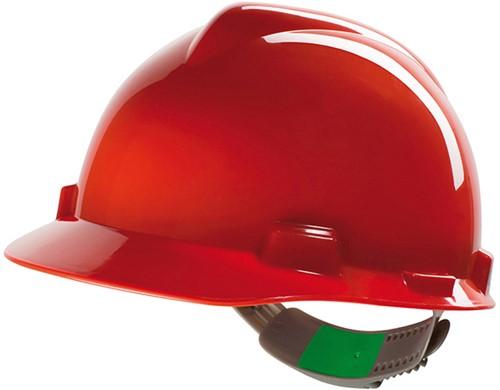 MSA V-Gard Veiligheidshelm Met Push-Key Binnenwerk Rood