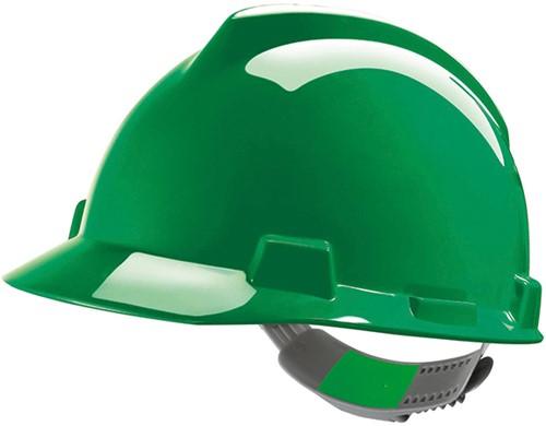 MSA V-Gard Veiligheidshelm Met Push-Key Binnenwerk Groen