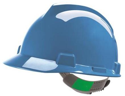 MSA V-Gard Veiligheidshelm Met Push-Key Binnenwerk Blauw