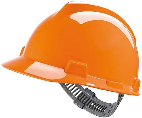 MSA V-Gard Veiligheidshelm Met Push-Key Binnenwerk Oranje
