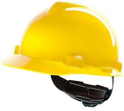 MSA V-Gard Veiligheidshelm Met Fas-Trac III Binnenwerk Geel