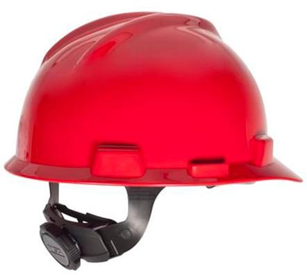 MSA V-Gard Veiligheidshelm Met Fas-Trac III Binnenwerk Rood