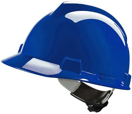 MSA V-Gard Veiligheidshelm Met Fas-Trac III Binnenwerk Blauw