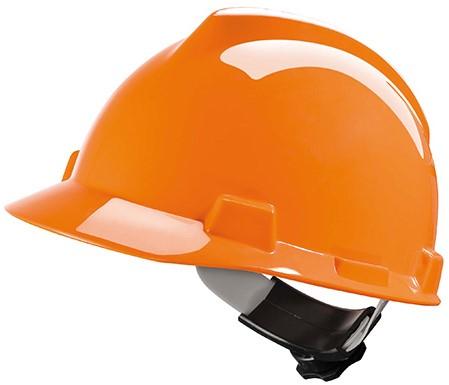 MSA V-Gard Veiligheidshelm Met Fas-Trac III Binnenwerk Oranje