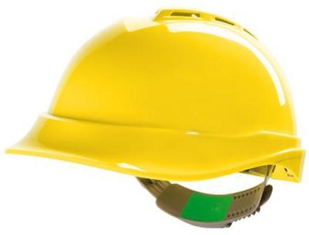 MSA V-Gard 200 Veiligheidshelm Met Push-Key Binnenwerk Geel