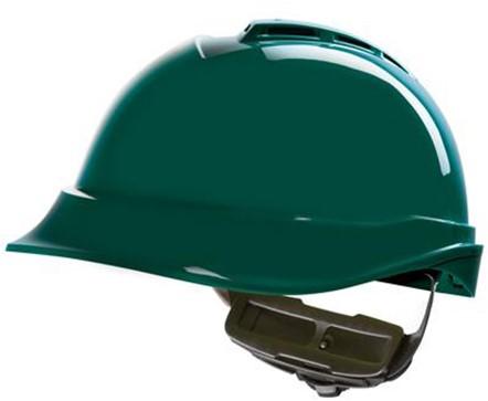 MSA V-Gard 200 Veiligheidshelm Met Fas-Trac III Binnenwerk Groen