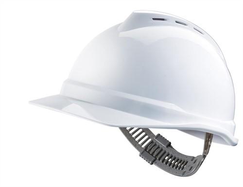 MSA V-Gard 500 Geventileerde Veiligheidshelm Met Push-Key Binnenwerk Wit