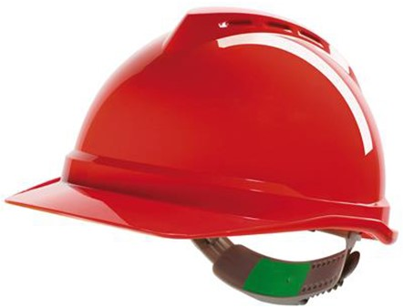 MSA V-Gard 500 Geventileerde Veiligheidshelm Met Push-Key Binnenwerk Rood