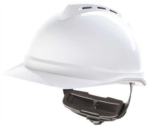 MSA V-Gard 500 Geventileerde Veiligheidshelm Met Fas-Trac III Binnenwerk Wit