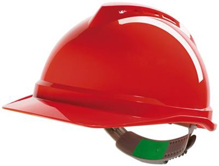 MSA V-Gard 500 Ongeventileerde Veiligheidshelm Met Push-Key Binnenwerk Rood