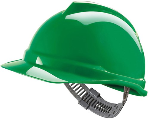 MSA V-Gard 500 Ongeventileerde Veiligheidshelm Met Push-Key Binnenwerk Groen
