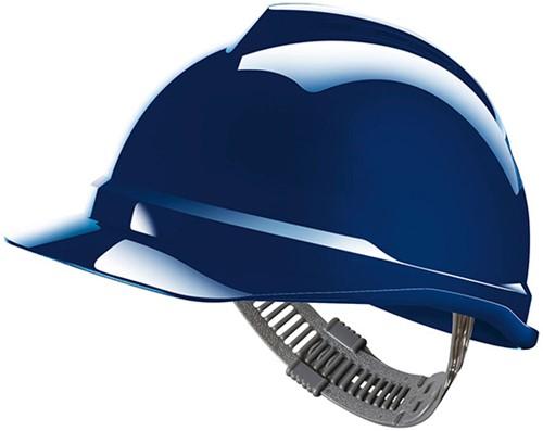 MSA V-Gard 500 Ongeventileerde Veiligheidshelm Met Push-Key Binnenwerk Blauw