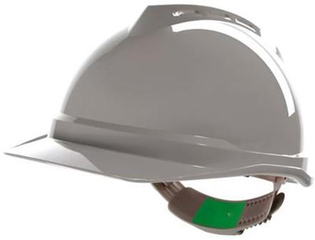 MSA V-Gard 500 Ongeventileerde Veiligheidshelm Met Push-Key Binnenwerk Grijs