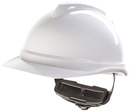 MSA V-Gard 500 Ongeventileerde Veiligheidshelm Met Fas-Trac III Binnenwerk Wit