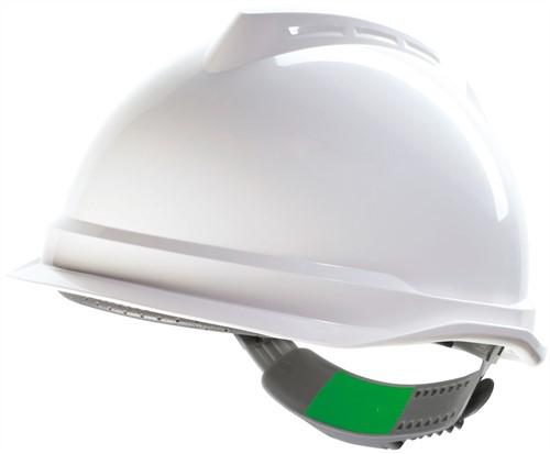 MSA V-Gard 520 Veiligheidshelm Met Push-Key Binnenwerk Wit