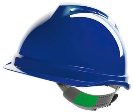 MSA V-Gard 520 Veiligheidshelm Met Push-Key Binnenwerk Blauw